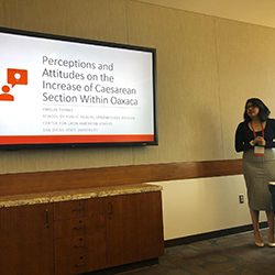 Amelia presenting at the SRS: Perceptions and Attitudes on the Increase of Caesarean Section Within Oaxaca