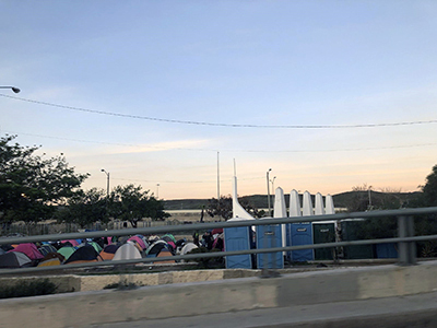 Migrant camps at border